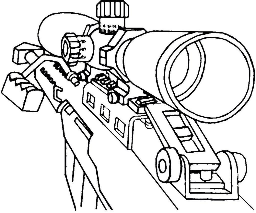 Line Drawing Of Guns