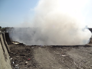 Emissions from FOB Salerno Open-Air Burn Pit   Photo from ...