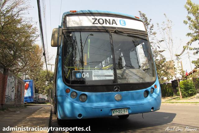 Transantiago E04 | Unitran | Metalpar Tronador - Mercedes Benz / WH2087
