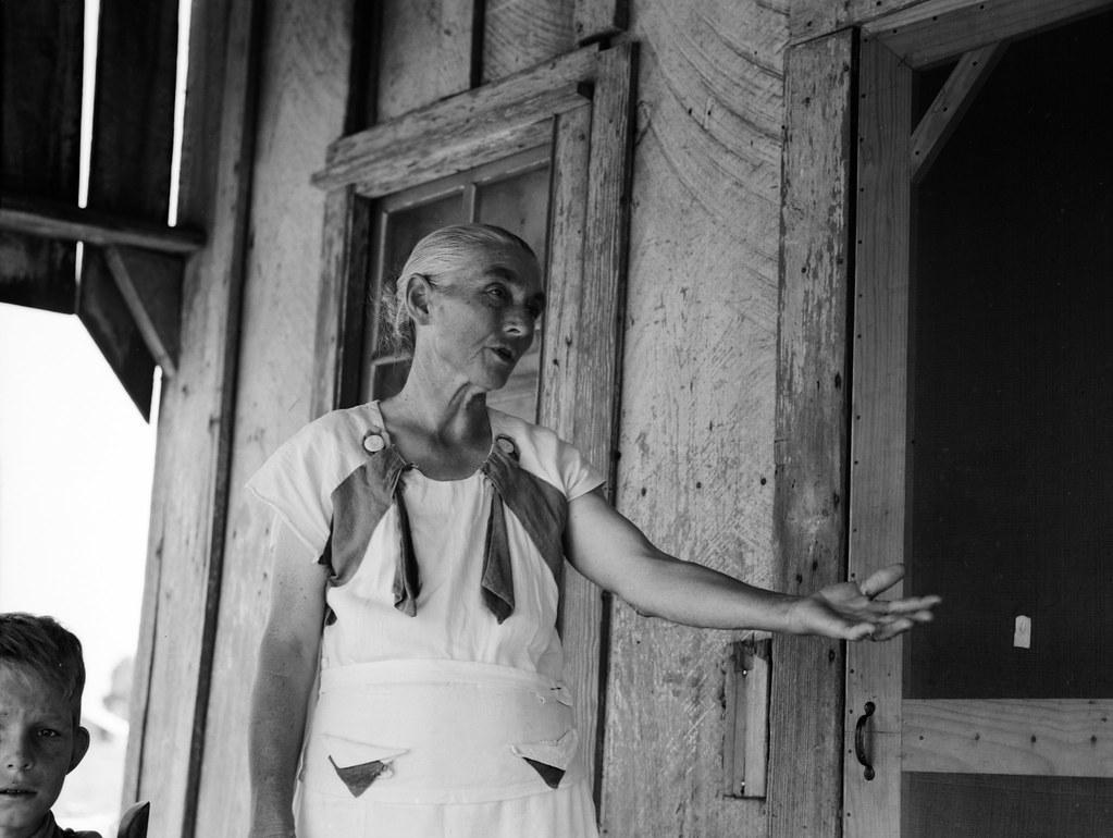 Lange, Dorothea, photographer. Grandmother of sharecropper family near Cleveland, Mississippi. June, 1937.