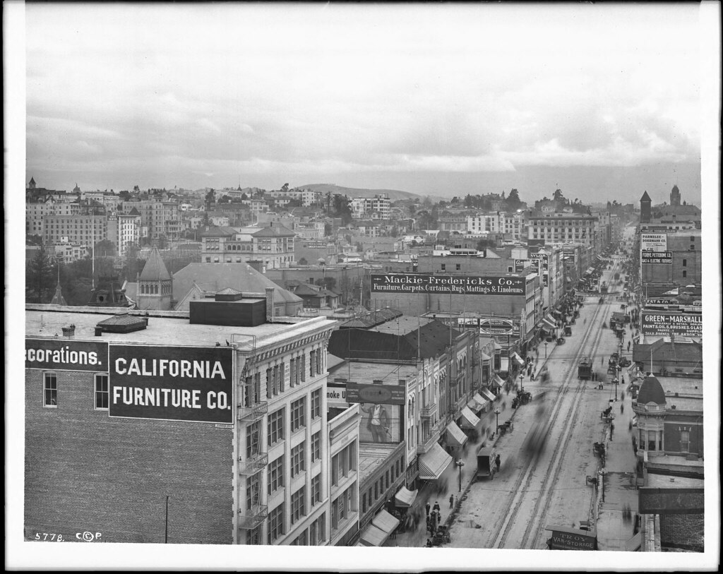 Panoramic View Of Los Angeles From The Lankershim Hotel S