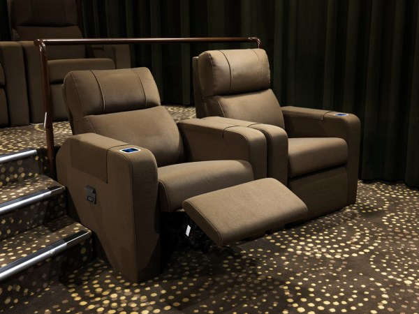 You can adjust your Gold Class recliner the exact way you like it. (Image credit: Golden Village)