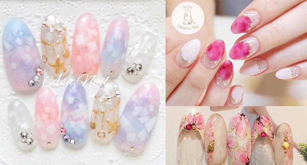 ♥ 粉嫩的少女情懷!愛上粉色指甲彩繪 1