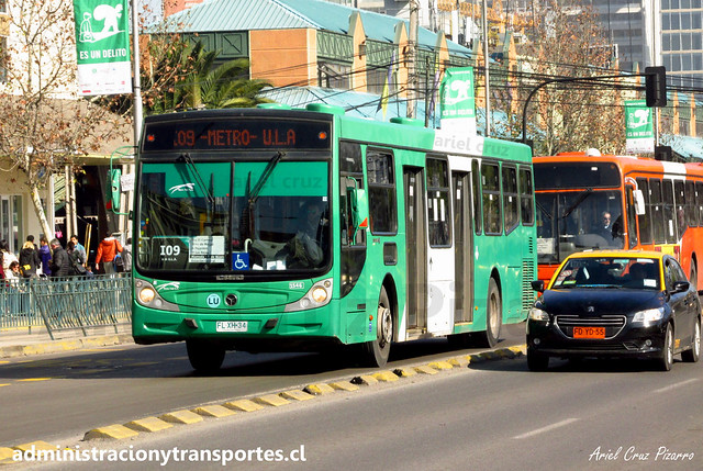Transantiago | Buses Vule - I09 | Caio Mondego H 13.2 - Mercedes Benz / FLXK34 (Biportal / 4 Puertas)
