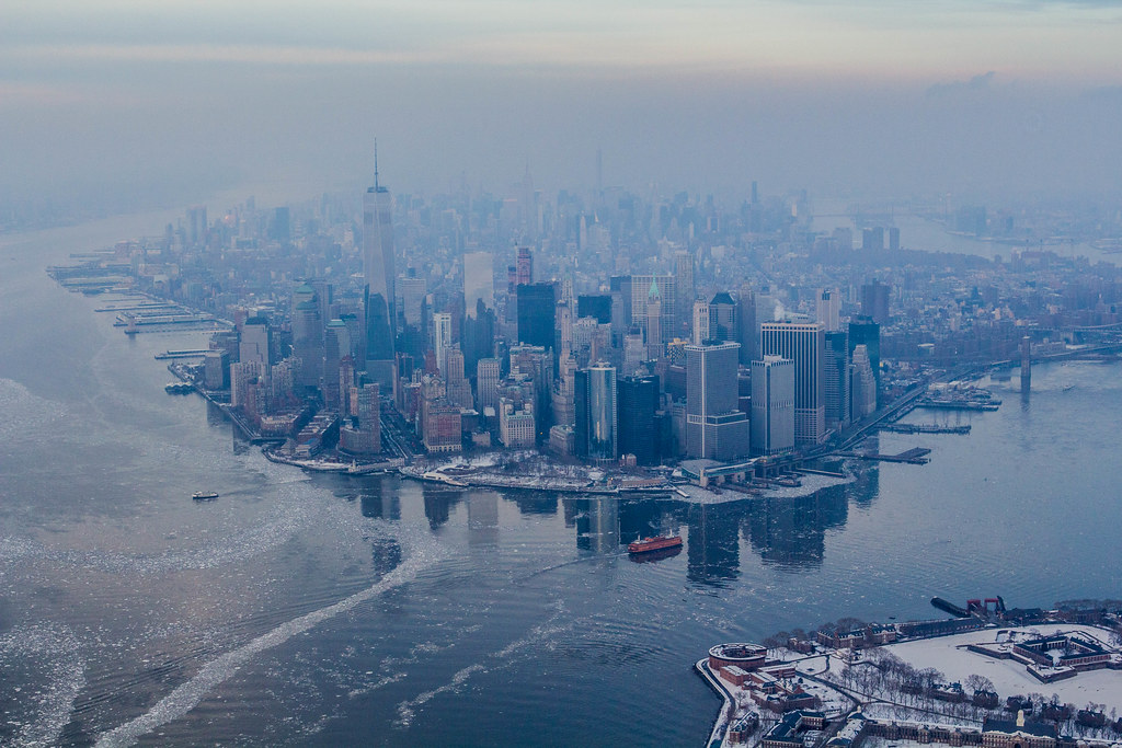 Ice Cold New York City Skyline Anthony Quintano Flickr