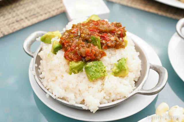 Grilled Avocado Rice jalapeno jam