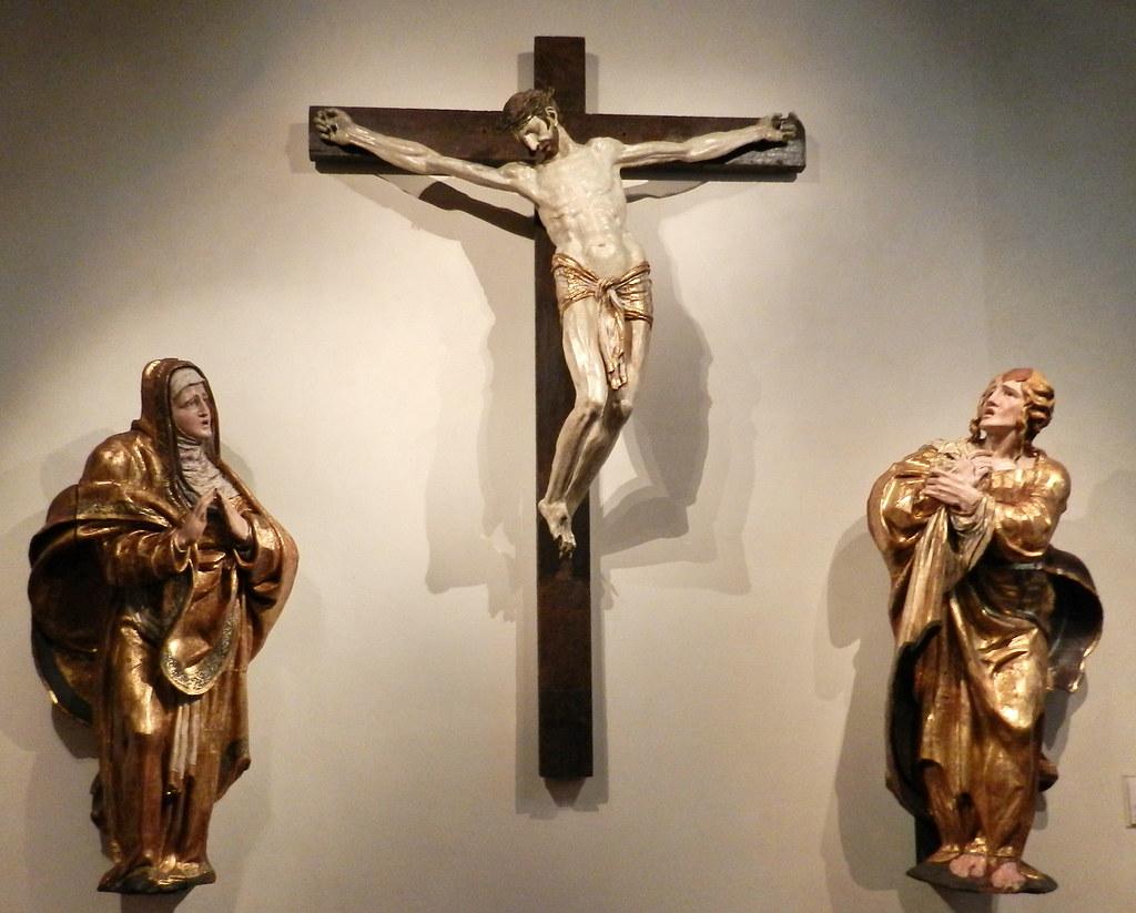 Calvario retablo mayor Monasterio San Benito el Real de Alonso Berruguete Museo Nacional Esculturas Colegio San Gregorio Valladolid 06