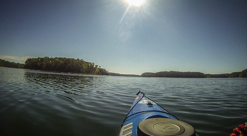 Paddling to Ghost Island in Lake Hartwell-101