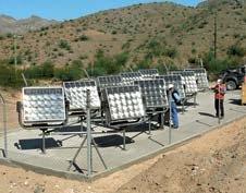 Planta de generación energía solar