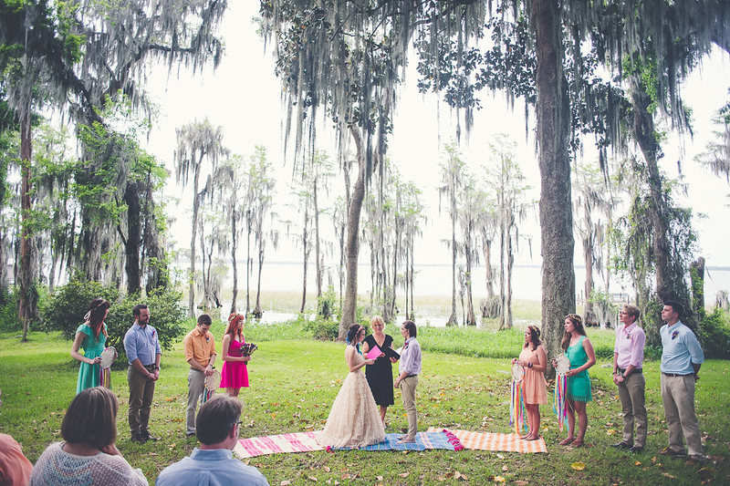 Rugs as ceremony decor from @offbeatbride