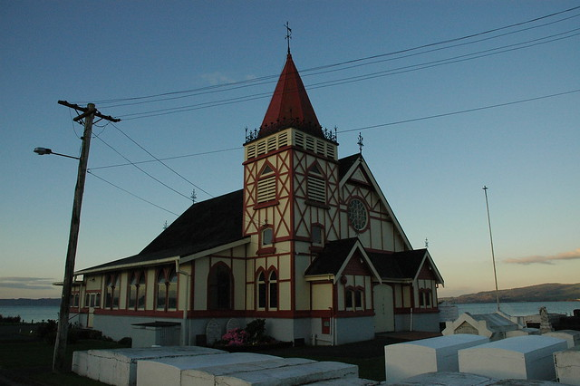 Maori Church at Dusk