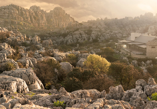 Marvel at the otherworldly landscape of El Torcal