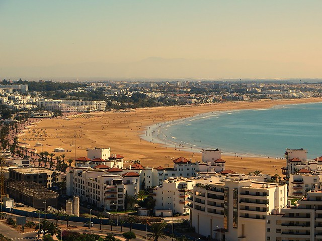 agadir beach, backpacking morocco, six week itinerary, solo female travel morocco