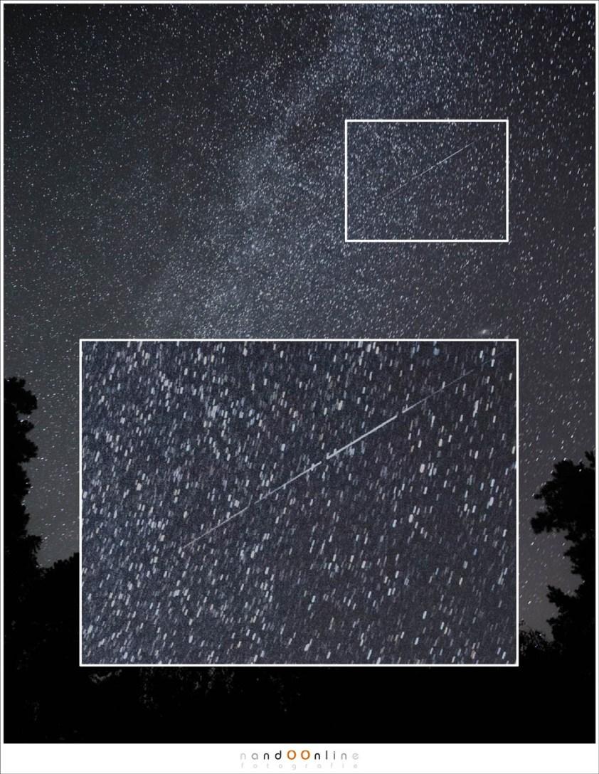 Een iridium flare. Het verschil tussen vliegtuigen, satellieten en vallende sterren