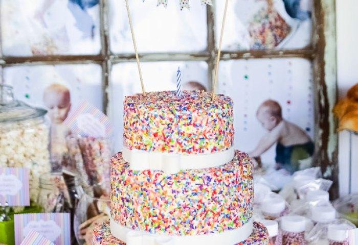 Baby Boys Cake Mix Sprinkles Birthday Cake Ashlee Marie Real