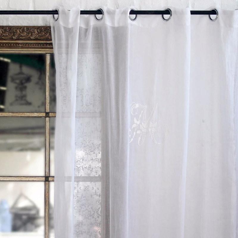 וילונות רומנטיים מכותנה בלבן ובאפור