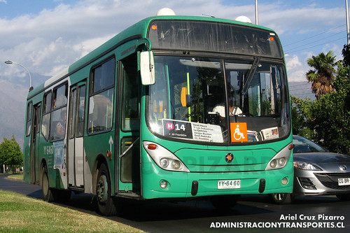 Transantiago - Buses Vule - Marcopolo Gran Viale / Mercedes Benz (YY6460)