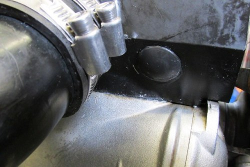 Timing Rubber Plug Installed in Air Box