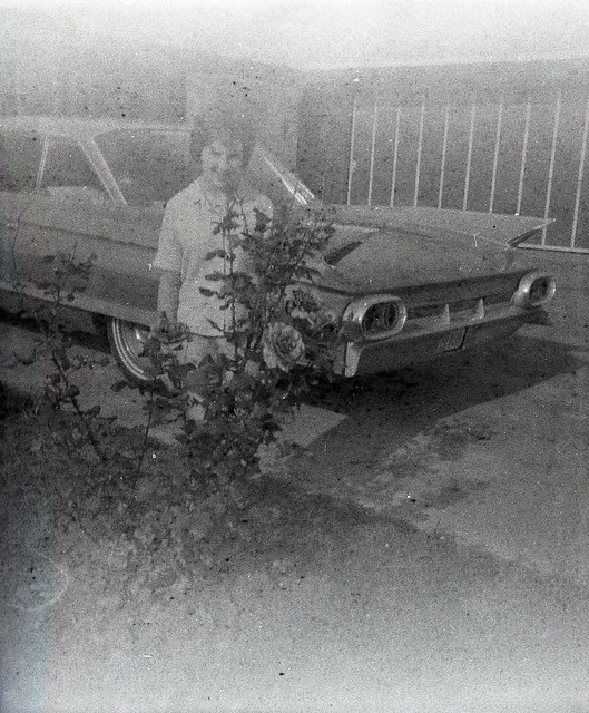 Posing with the Car