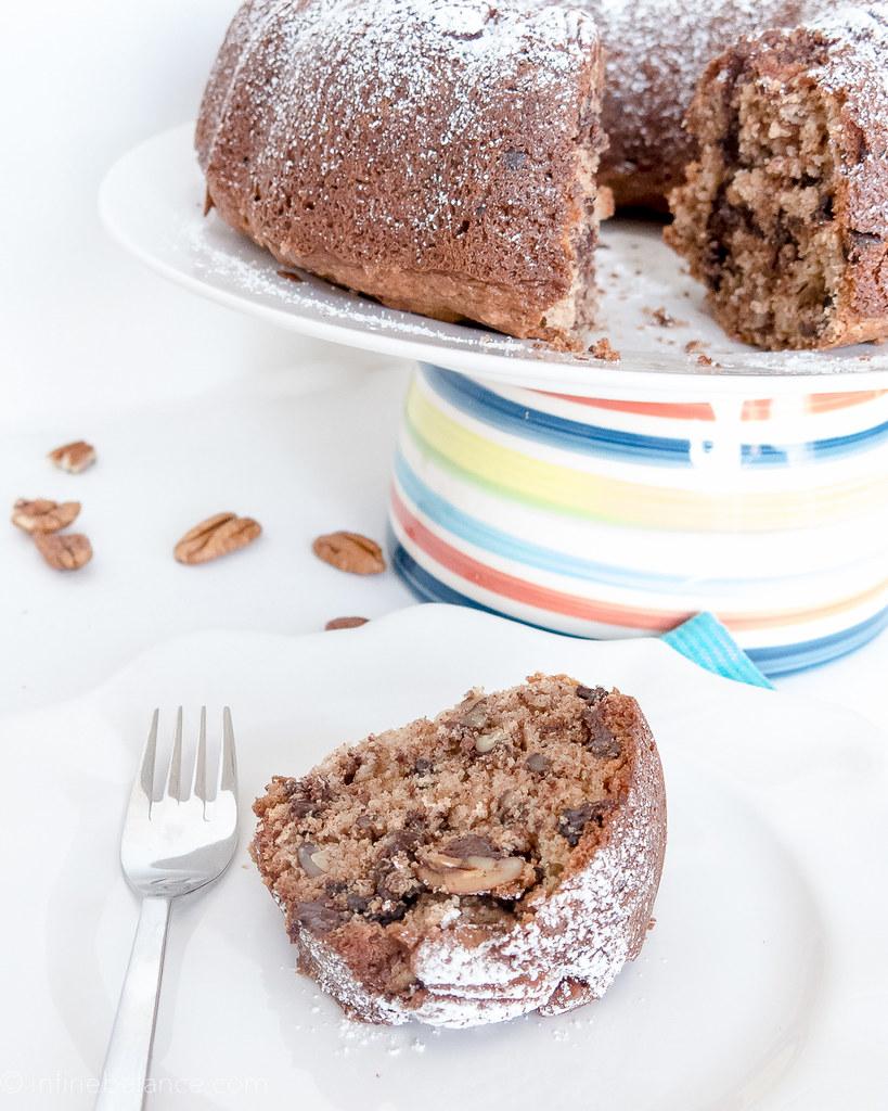 Chocolate Pecan Bundt Cake | www.infinebalance.com