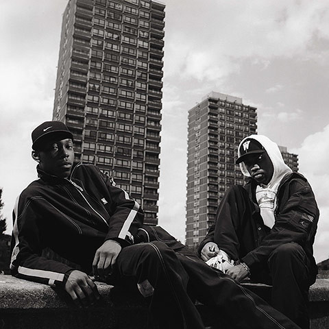 Dizzee Rascal with Wiley in Bethnal Green, London, August 2002