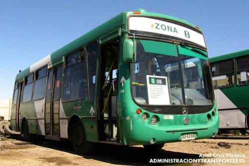 Transantiago - Buses Vule - Metalpar Tronador / Mercedes Benz (XU9388)