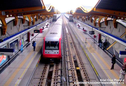 Metro de Santiago - Alstom AS2002 - Las Torres (L4)