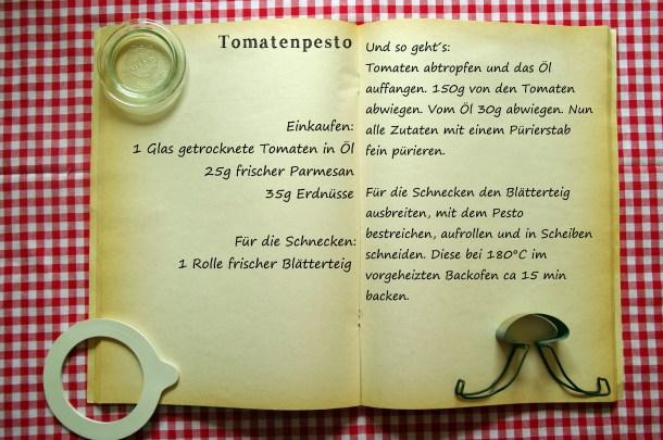 Einkaufszettel Tomatenpesto by Glasgeflüster
