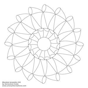 Mandala template 41