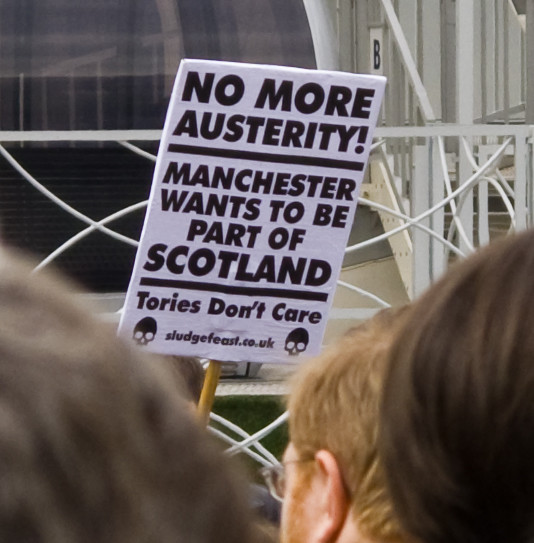 Anti Austerity demo Manchester, May 23rd 2015