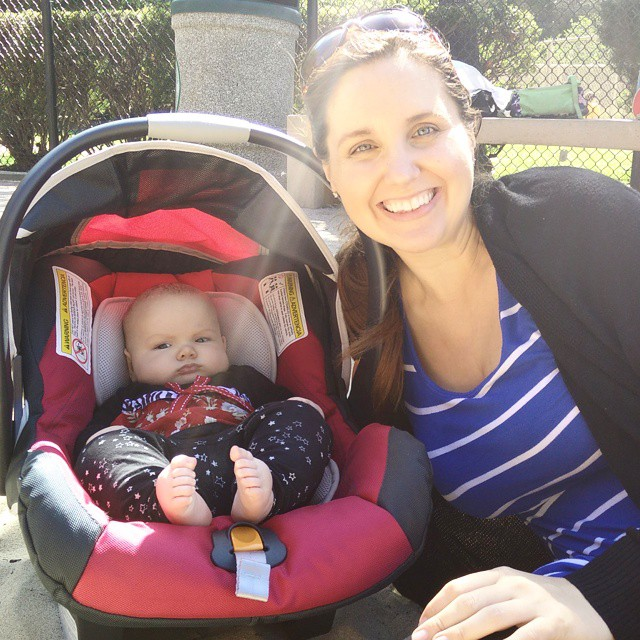 Mom stays in the picture! Me and my baby at the park today... #3monthsold