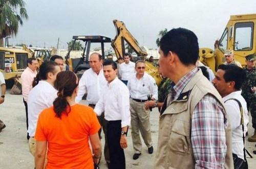 Promete Peña pronta reconstrucción de viviendas en Ciudad Acuña