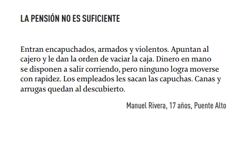 La pension no es suficiente