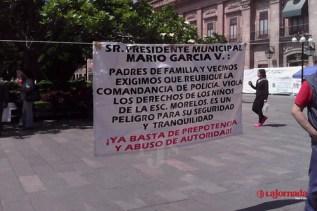 Padres de Familia contra construcción de comandancia municipal piden apoyo a candidatos