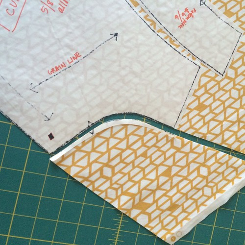 freezer paper pattern cutting