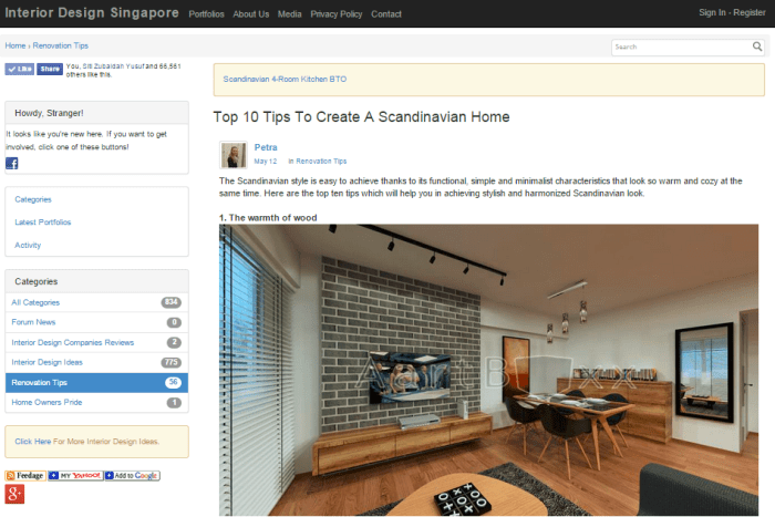 9 useful singapore websites for home renovation and for Home interior sites