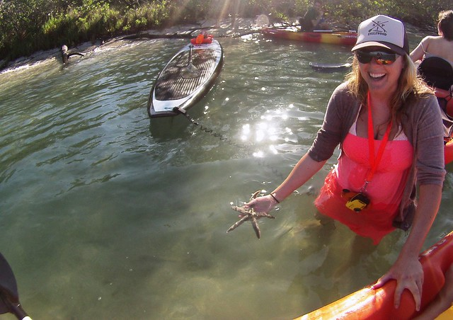 Nicole Miers-Pandolfi, owner of SUP Englewood, during a kayak tour in Stump Pass Beach State Park, Englewood, Fla., May 17, 2015.
