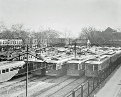 Idled Streetcars During 2nd Strike: 1945
