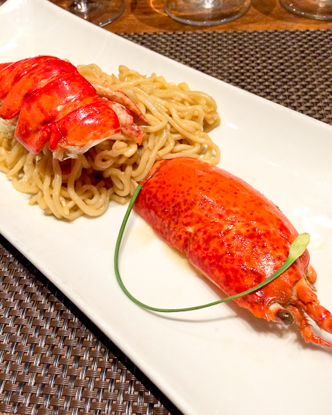 Pan Roasted Maine Lobster with Garlic Noodles