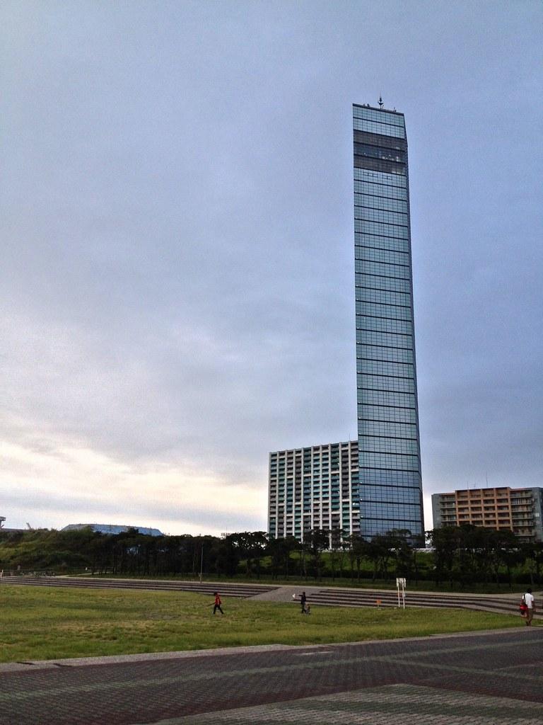 Chiba Port Tower backside has Tokyo Bay area