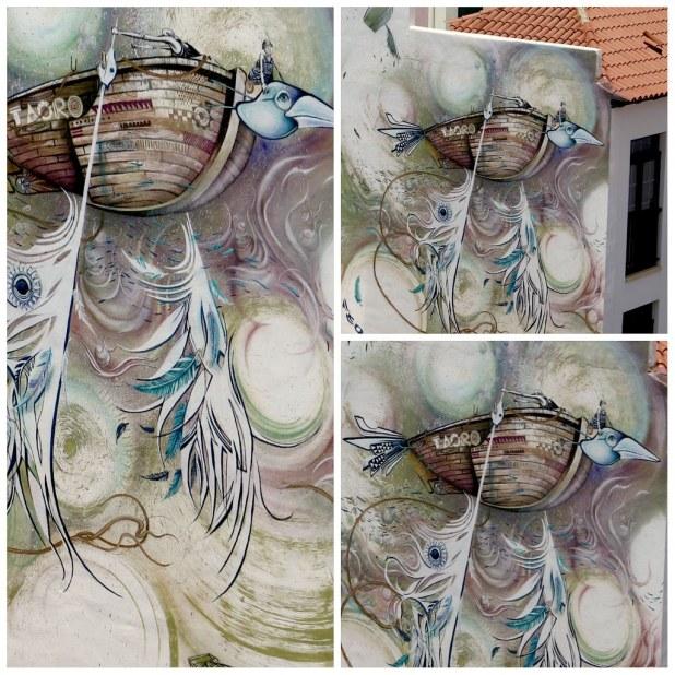 Navios volatiles mural