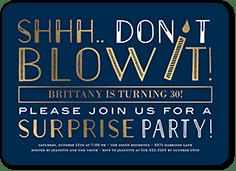 blue surprise birthday invitations