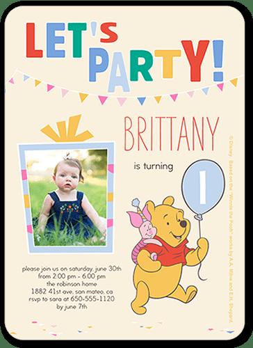 disney winnie the pooh balloon 5x7 stationery card by disney shutterfly