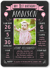 pink and gold birthday invitations