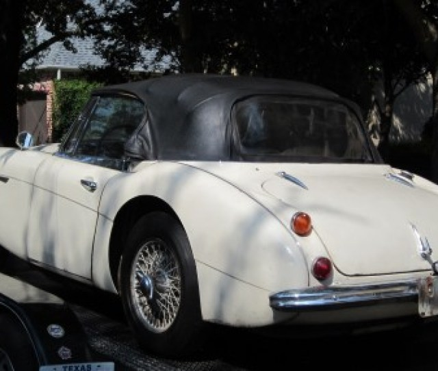 The Stolen 1967 Austin Healey Is Delivered To Robert Russells House In Texas 42