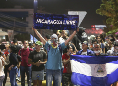 Image result for Pro, anti govt demonstrators take to  Nicaraguan streets