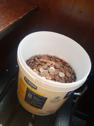 Rian's bucket of 5c coins