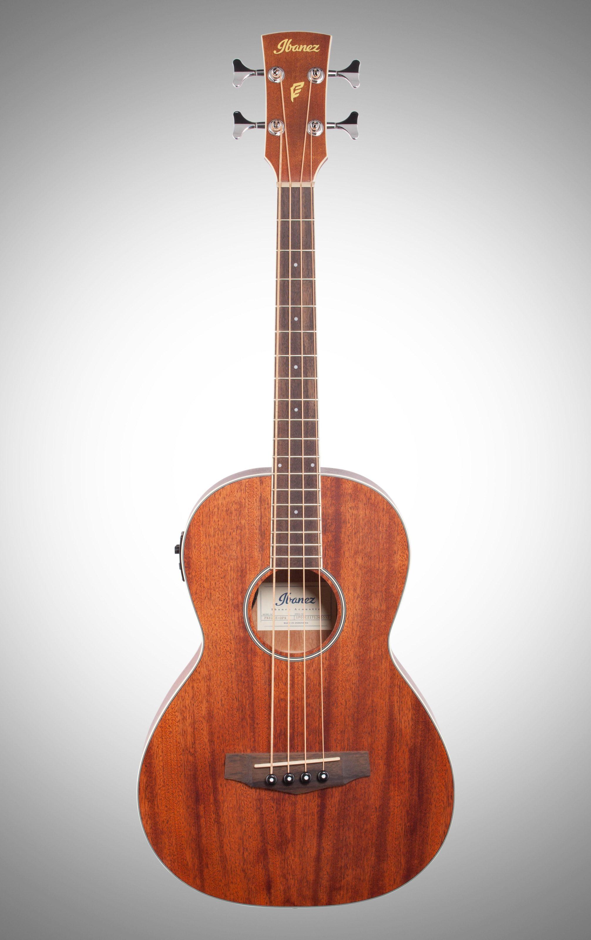 Ibanez Pnb14e Performance Parlor Acoustic Electric Bass Guitar
