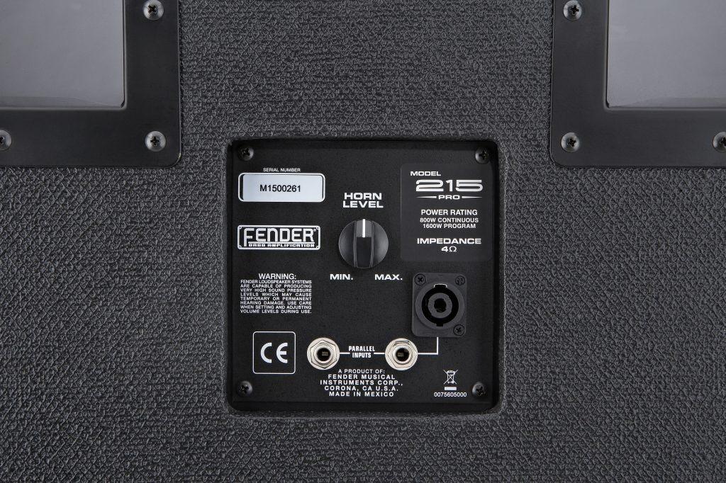 "Fender 215 PRO Bass Cabinet (1600 Watts, 2x15"")"
