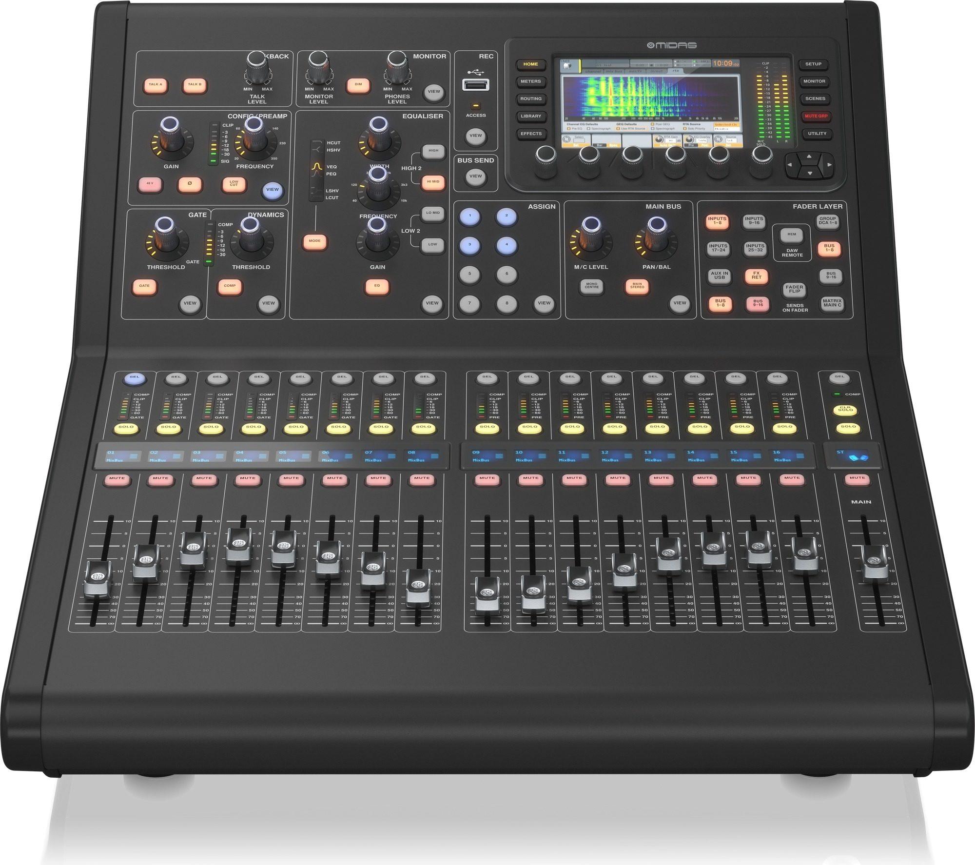 Midas M32r Live 40 Input Compact Digital Mixer Zzounds